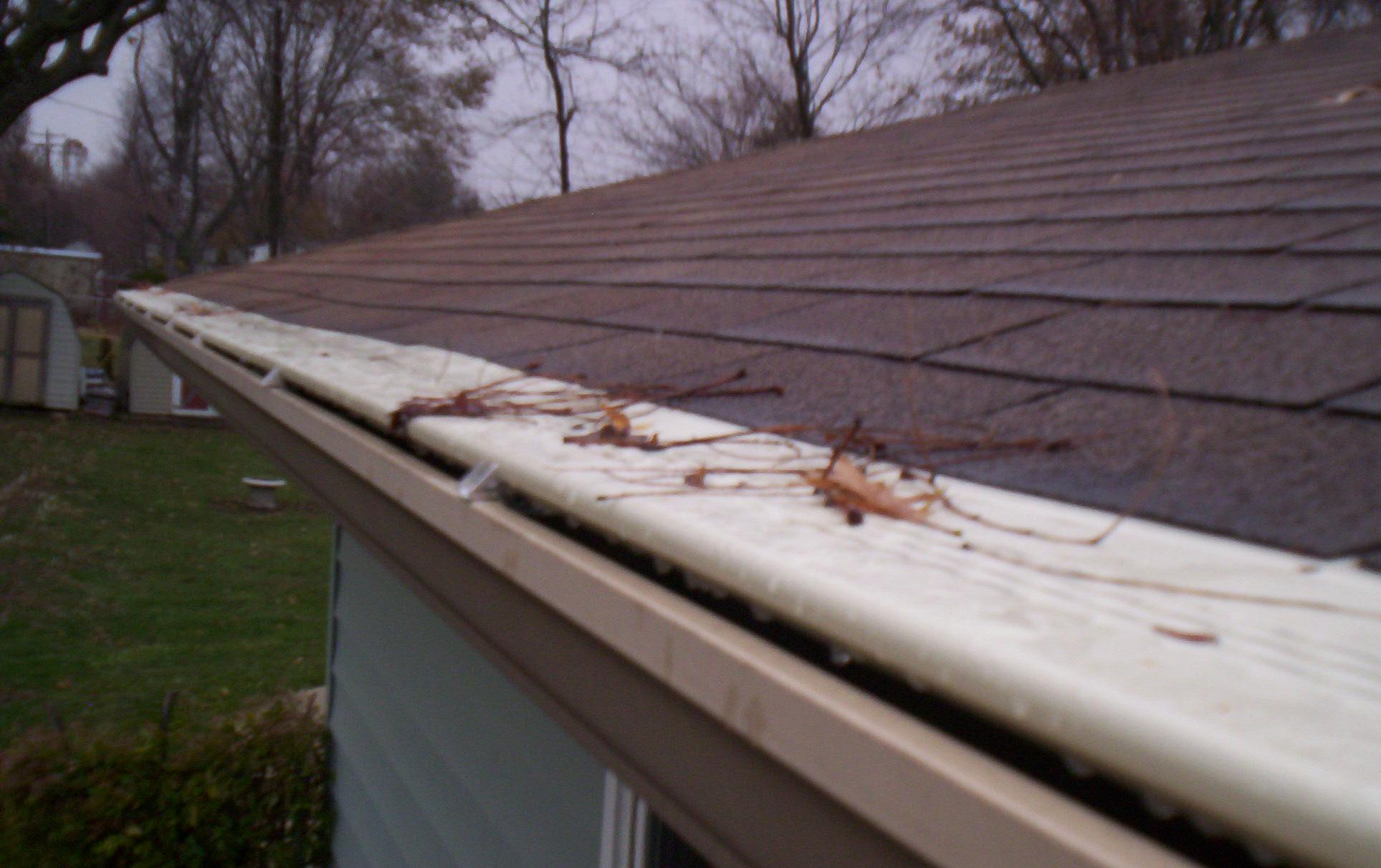 Original Gutter Cover prevents debris from entering your gutters.